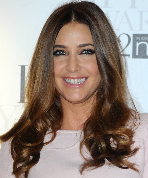 Lisa Snowden Long Wavy Formal Hairstyle - Medium Brunette (Chocolate) Hair Color