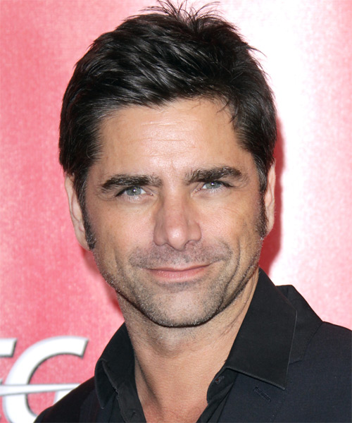 John Stamos Short Straight Casual Hairstyle - Black Hair Color