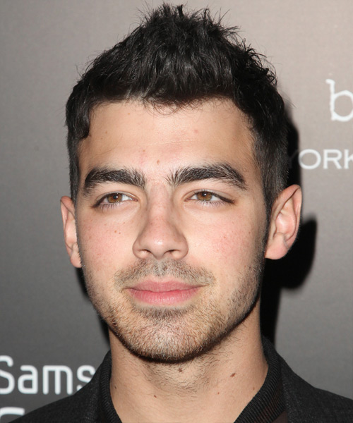 Joe Jonas Short Straight Hairstyle - Black
