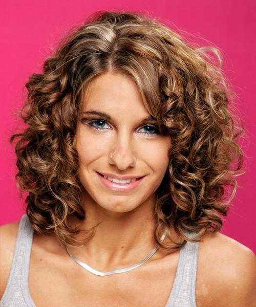 Awe Inspiring Medium Curly Formal Hairstyle Medium Brunette Chestnut Short Hairstyles Gunalazisus