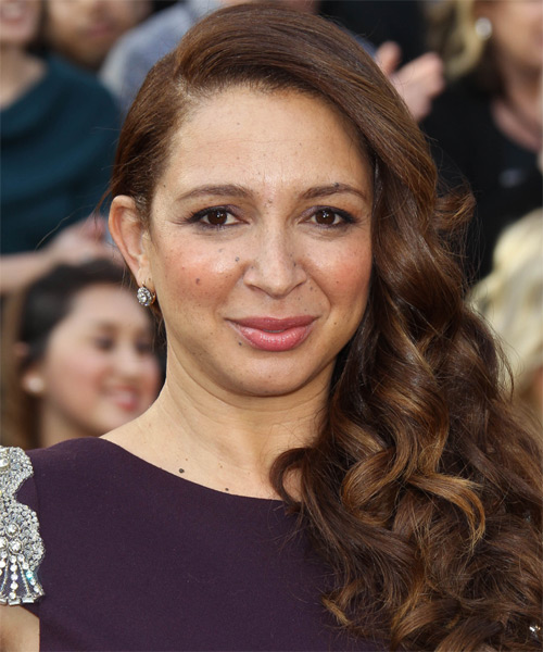 Maya Rudolph Long Wavy Formal Hairstyle - Medium Brunette Hair Color