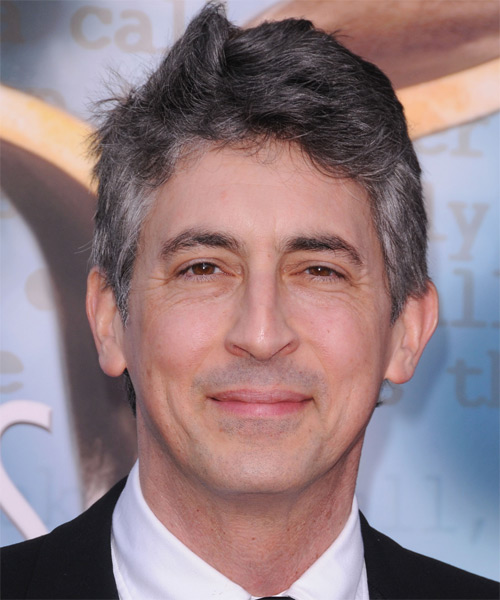 Alexander Payne Short Straight Hairstyle - Dark Grey (Salt and Pepper)
