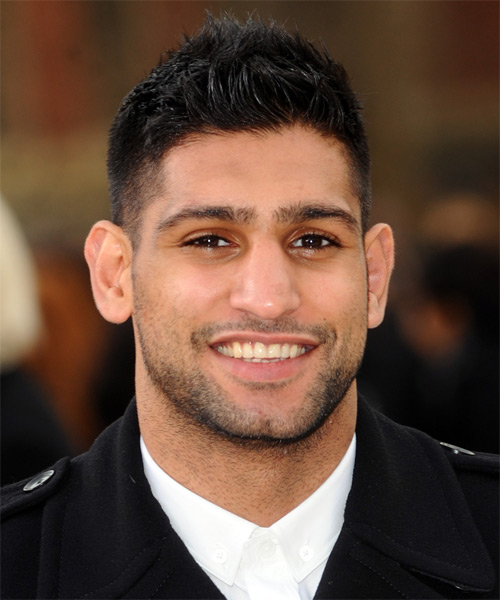 Amir Khan Short Straight Hairstyle - Black
