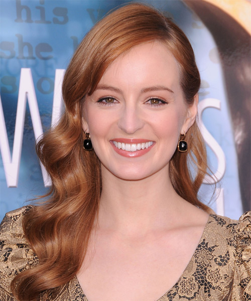 Ahna O'Reilly Long Wavy Hairstyle - Light Red (Copper)