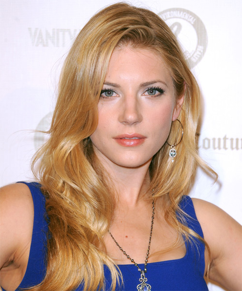 Katheryn Winnick  Long Straight Casual Hairstyle - Medium Blonde (Golden) Hair Color