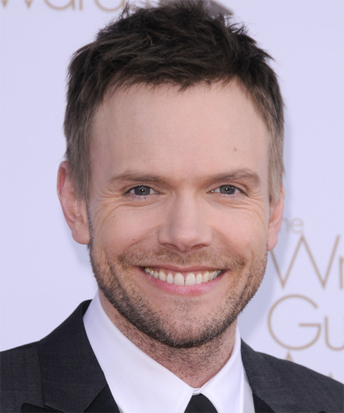 Joel McHale Short Straight Hairstyle