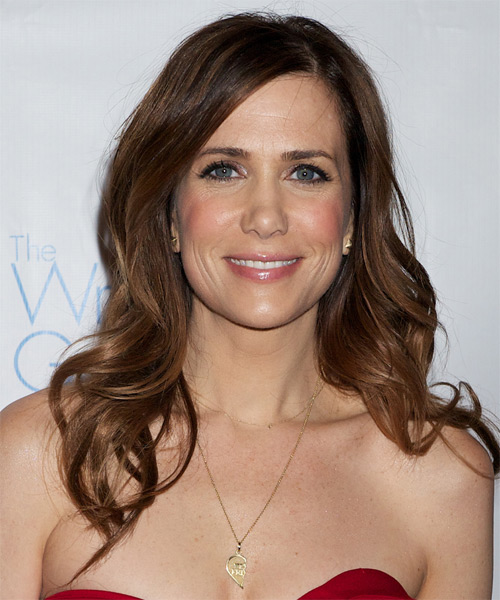 Kristen Wiig Long Straight Casual Hairstyle - Medium Brunette (Chocolate) Hair Color