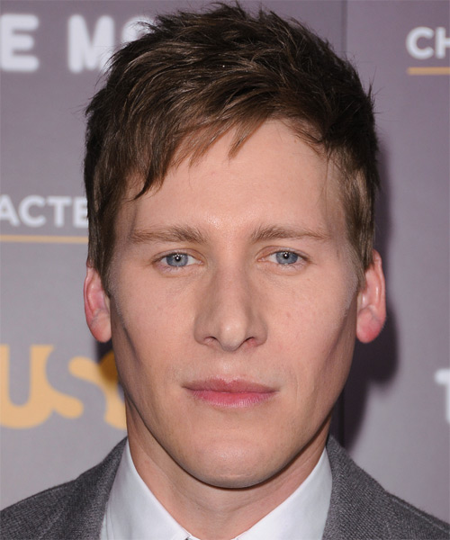 Dustin Lance Black Short Straight Hairstyle - Medium Brunette