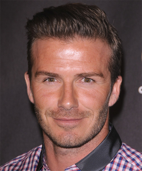 David Beckham Short Straight Hairstyle - Medium Brunette (Chocolate)