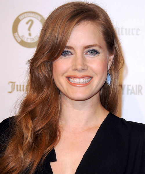 Amy Adams Long Wavy Hairstyle - Medium Red (Ginger)