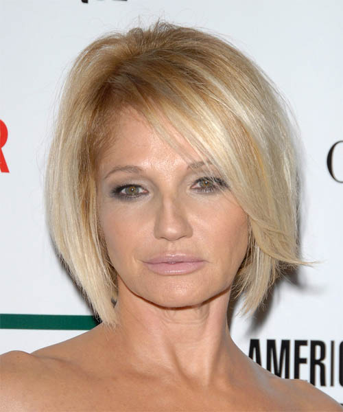 Ellen Barkin - Formal Medium Straight Hairstyle