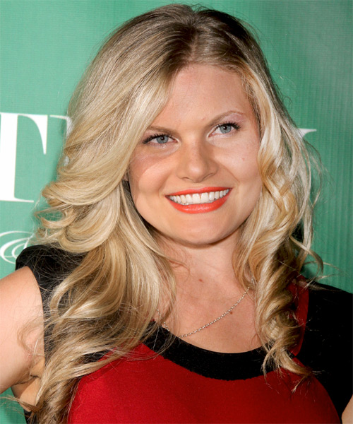 Bonnie Sveen Long Wavy Hairstyle - Dark Blonde (Ash)