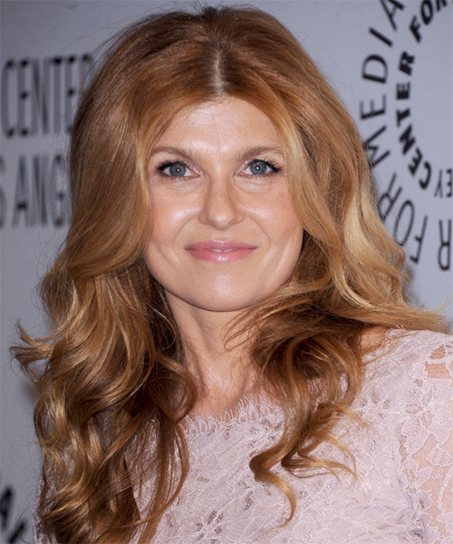Connie Britton Long Wavy Hairstyle - Light Red (Strawberry)