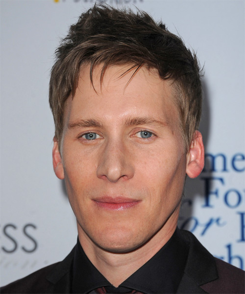 Dustin Lance Black Short Straight Hairstyle - Light Brunette