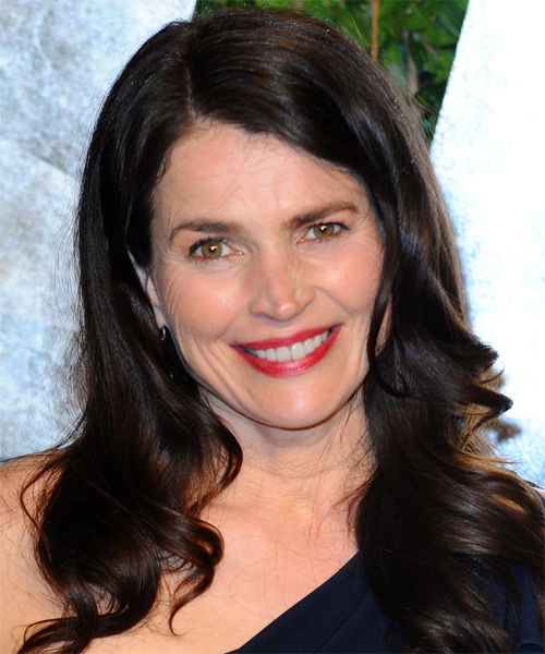 Julia Ormond Long Wavy Formal Hairstyle - Black Hair Color