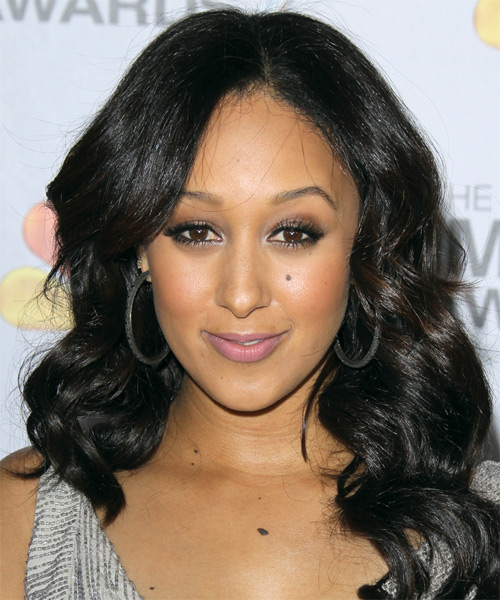 Tamera Mowry Long Wavy Hairstyle - Black