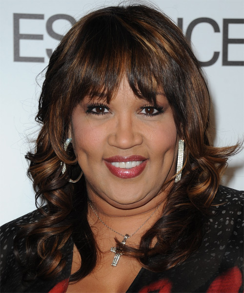 Kym Whitley Long Wavy Hairstyle - Black (Mocha)