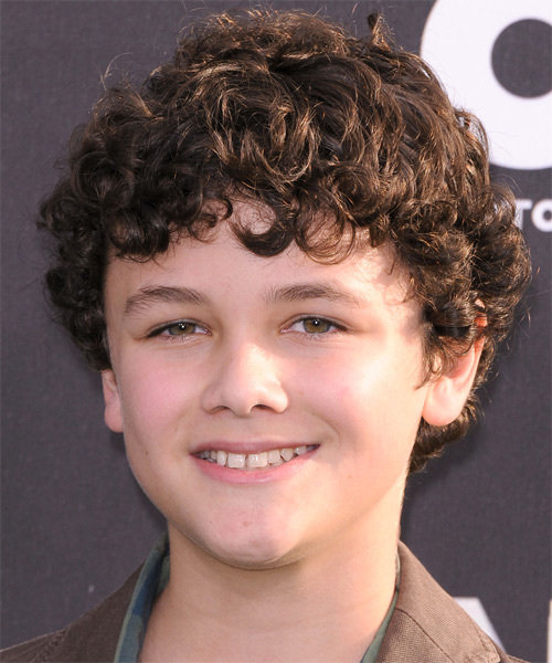 Nicholas Stargel Short Curly Hairstyle - Medium Brunette