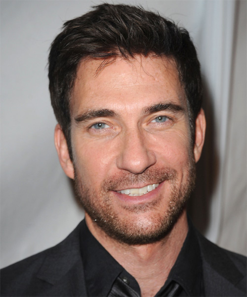 Dylan McDermott Short Straight Formal Hairstyle - Dark Brunette Hair Color