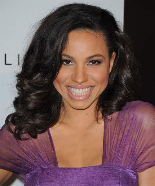 Jurnee Smollett Medium Wavy Hairstyle - Black
