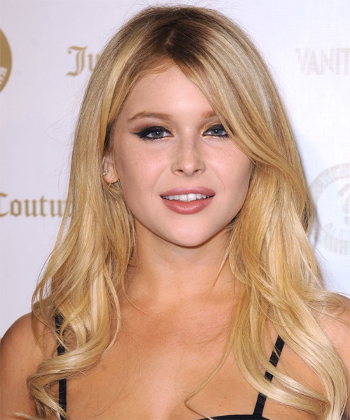 Renee Olstead Long Straight Casual Hairstyle - Medium Blonde (Golden) Hair Color