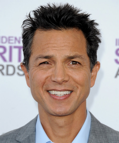 Benjamin Bratt Short Straight Hairstyle (Salt and Pepper)