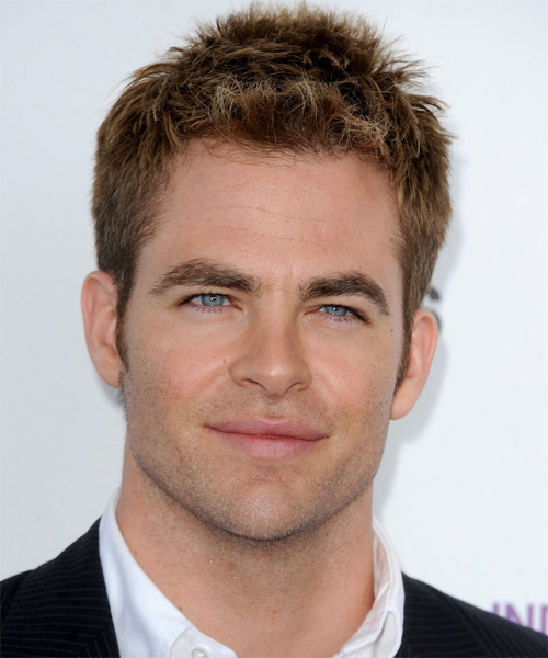 Chris Pine Short Straight Hairstyle - Dark Blonde