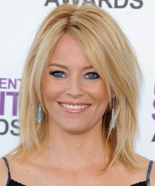 Elizabeth Banks Medium Straight Casual Hairstyle - Medium Blonde Hair Color