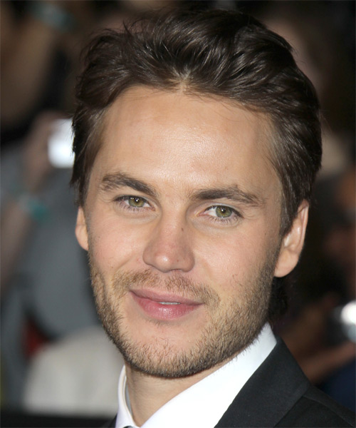 Taylor Kitsch Short Straight Formal Hairstyle - Medium Brunette Hair Color