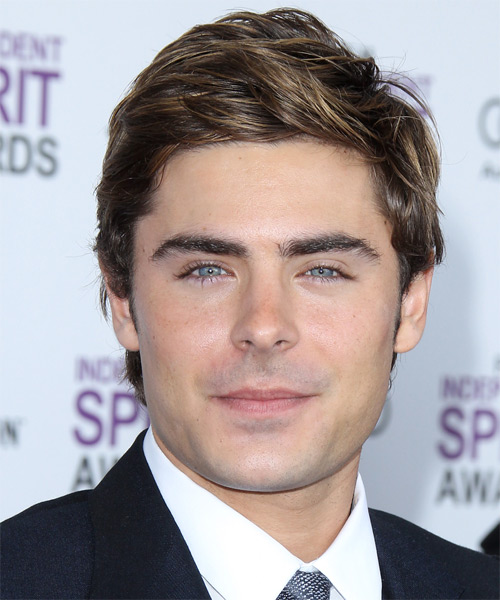 Zac Efron Short Straight Hairstyle - Light Brunette