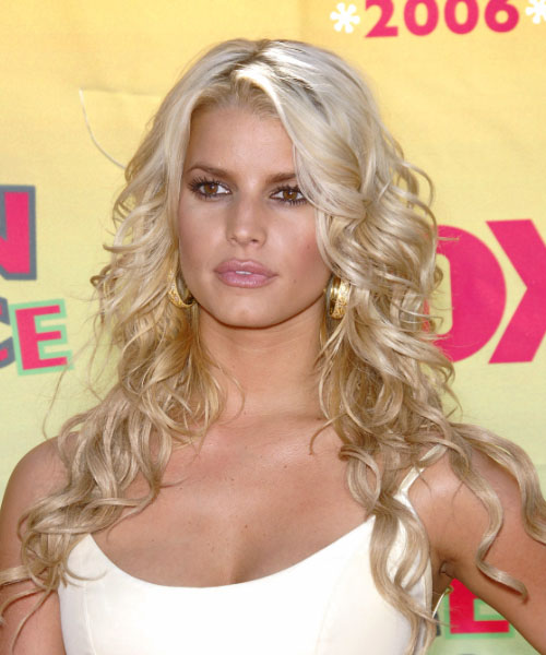 Jessica Simpson Long Curly Formal Hairstyle
