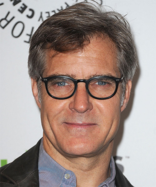 Henry Czerny  Short Straight Hairstyle - Dark Brunette (Salt and Pepper)