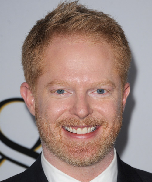 Jesse Tyler Ferguson Short Straight Hairstyle - Light Red (Ginger)