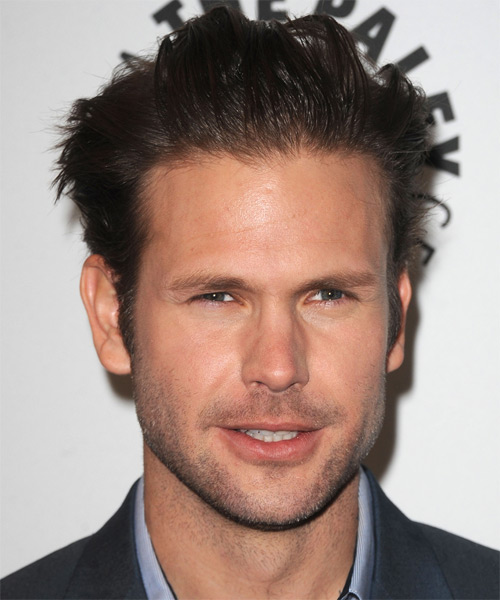 Matt Davis Short Straight Hairstyle - Dark Brunette