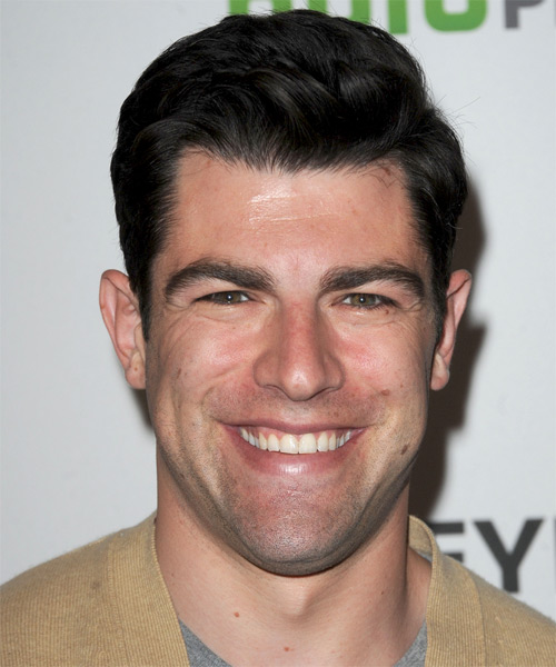 Max Greenfield Short Straight Hairstyle - Black
