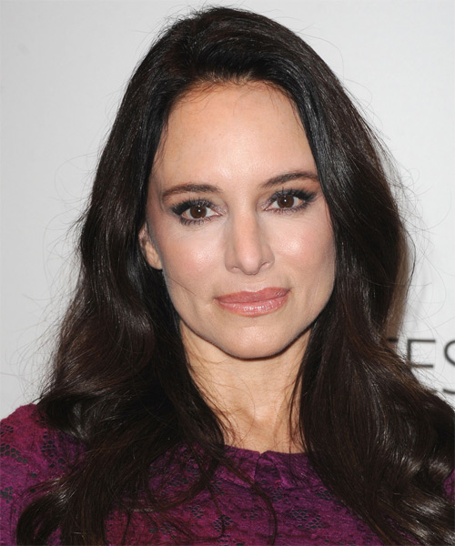 Madeleine Stowe Long Straight Casual  - Black