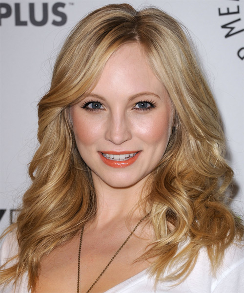 Candice Accola Long Wavy Hairstyle - Medium Blonde (Golden)