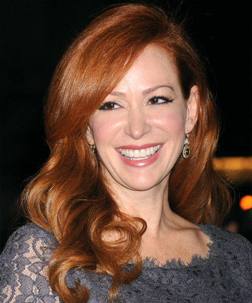 Rebecca Creskoff  Long Wavy Formal Hairstyle - Medium Red (Copper) Hair Color
