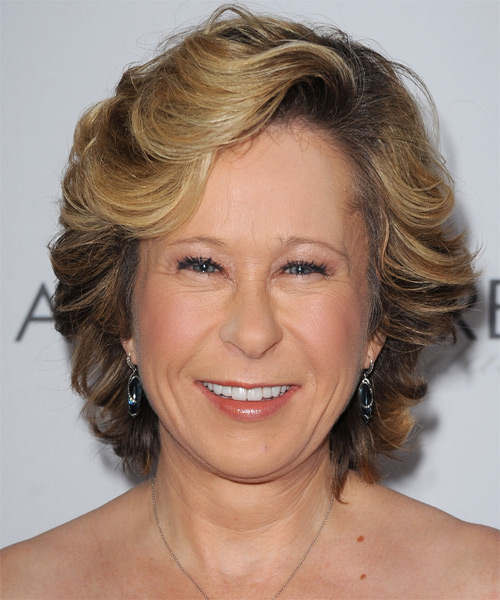 Yeardley Smith Short Wavy Hairstyle - Medium Brunette (Golden)