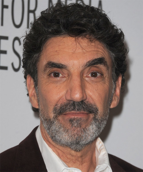 Chuck Lorre Short Wavy Casual Hairstyle - Dark Grey Hair Color
