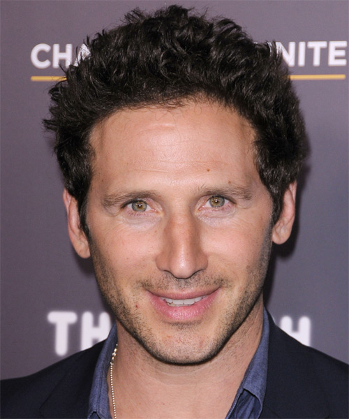 Mark Feuerstein  Short Wavy Hairstyle - Dark Brunette