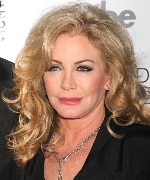 Shannon Tweed Long Wavy Hairstyle - Medium Blonde