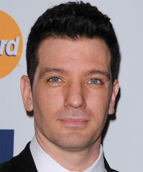 J. C. Chasez Short Straight Formal Hairstyle - Black Hair Color