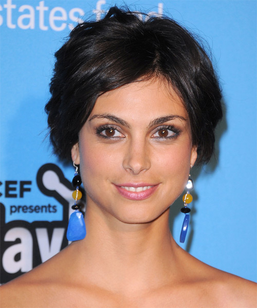 Morena Baccarin Updo Medium Curly Formal Updo Hairstyle - Black Hair Color