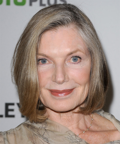 Susan Sullivan Medium Straight Bob Hairstyle - Medium Blonde (Grey)