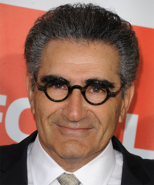Eugene Levy  Short Straight Formal Hairstyle - Black (Salt and Pepper) Hair Color