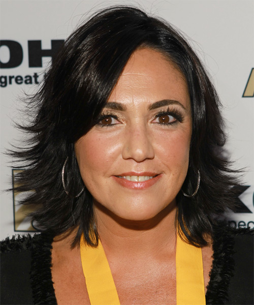 Claudia Brant  Medium Straight Hairstyle - Black
