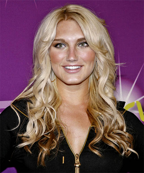 Brooke Hogan Long Wavy Formal Hairstyle