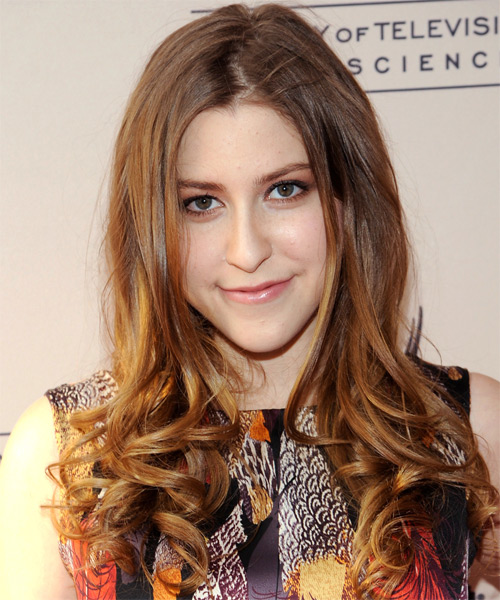 Eden Sher  Long Wavy Hairstyle - Light Brunette (Caramel)