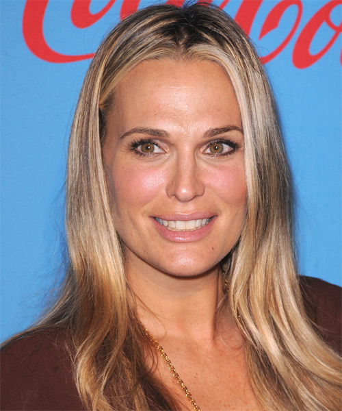 Molly Sims Long Straight Hairstyle - Dark Blonde (Golden)